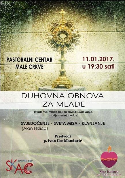 Duhovna obnva za mlade (pater Ivan Ike Mandurić)