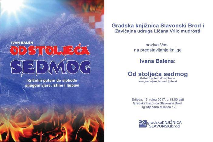 """""""Od stoljeća sedmog"""" - predstavljanje knjige Ivana Balena u Gradskoj knjižnici Slavonski Brod"""