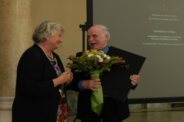 Zvonimiru Toldiju dodijeljena Nagrada za životno djelo Hrvatskog muzejskog društva