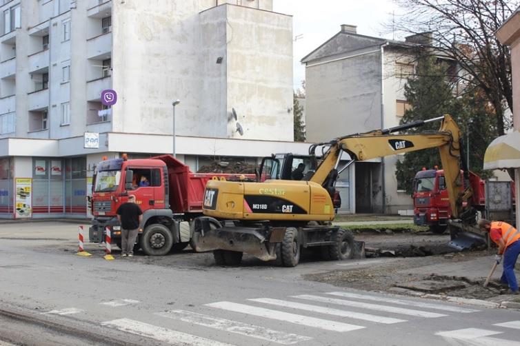 Započeli radovi na izgradnji kružnog toka na križanju Zrinske i Štampareve ulice