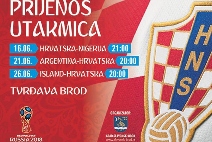 Prijenos nogometnih utakmica Hrvatske nogometne reprezentacije u Tvrđavi Brod