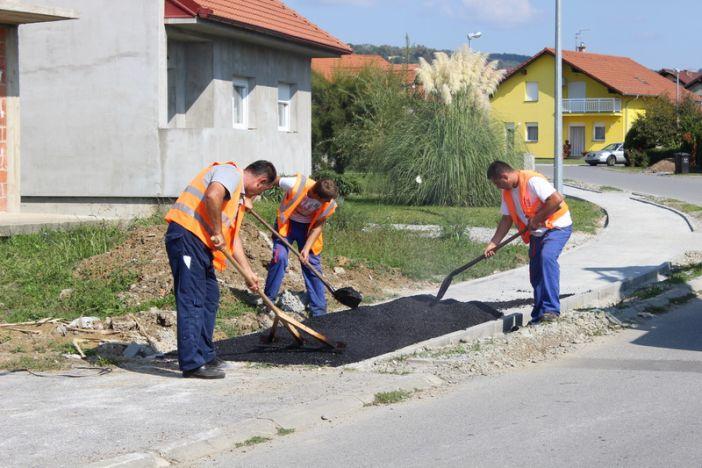 Antunovićeva ulica i Dravska ulica dobile nove pješačke staze