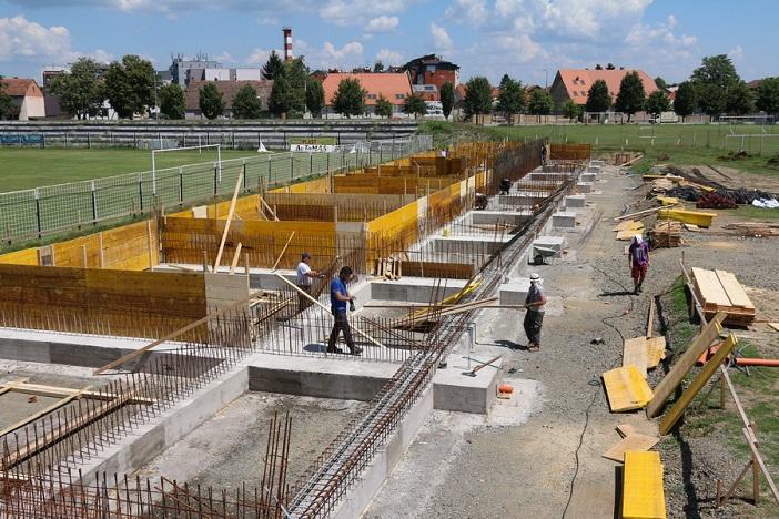 Radovi na istočnoj tribini Stadiona uz Savu napreduju prema planu