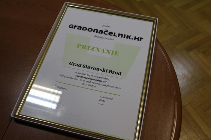 Portal gradonačelnik.hr dodijelio priznanje Gradu Slavonskom Brodu, svi smo ponosni