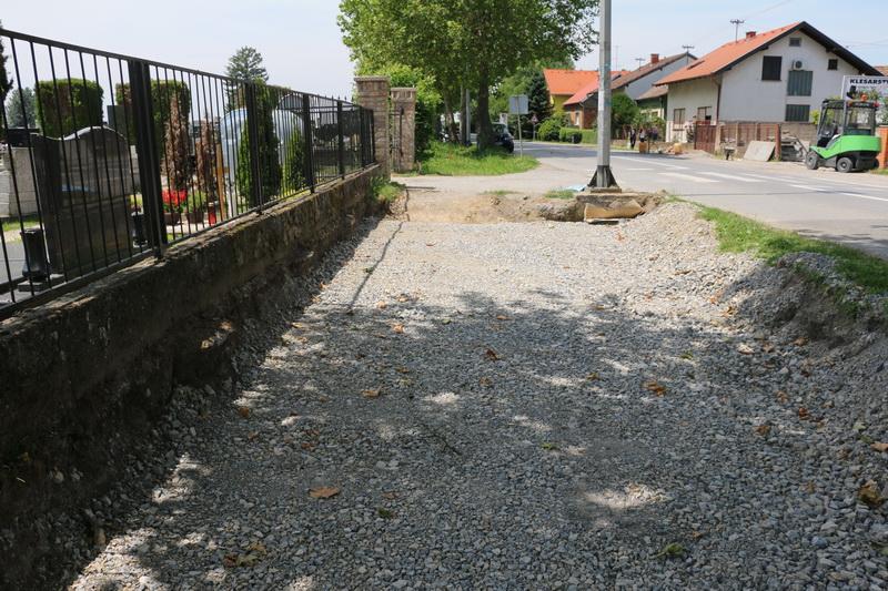 U tijeku izgradnja pješačke staze u Ulici svetog Lovre