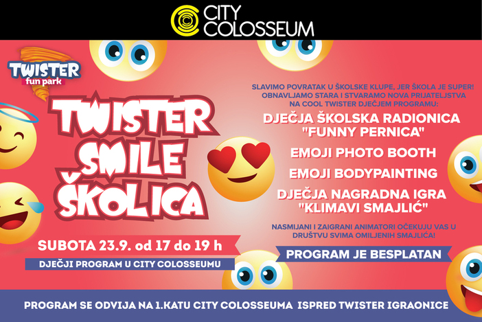 Twister smile školica 23. rujna u CITY COLOSSEUMU