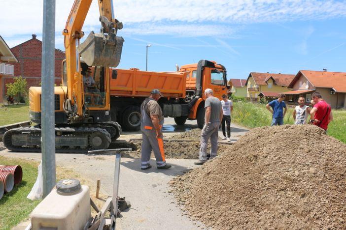 Započeli radovi na izgradnji kanalizacije u Županjskoj ulici odvojak IV
