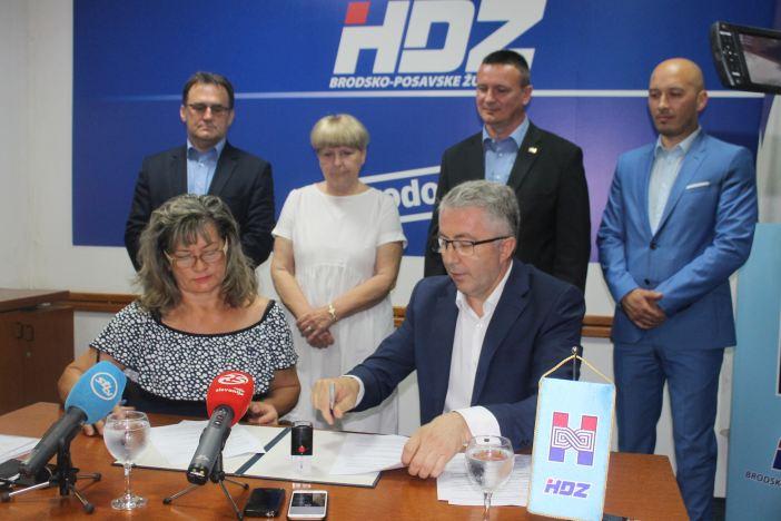 HDZ i HSLS potpisali koalicijski sporazum za Brodsko-posavsku županiju