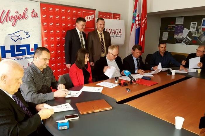 Kandidati koalicije 'Zajedno možemo' u Sl. Brodu su Lujić, Šćuka i Klarić