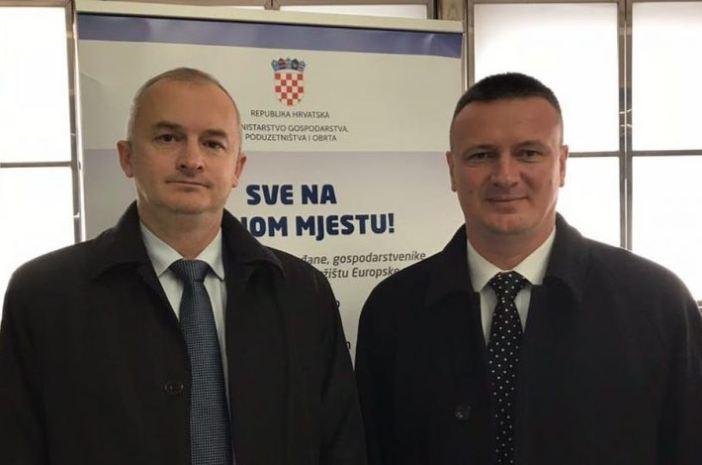Župan Marušić i gradonačelnik Nove Gradiške Vinko Grgić u Vladi RH o projektima za Novu Gradišku