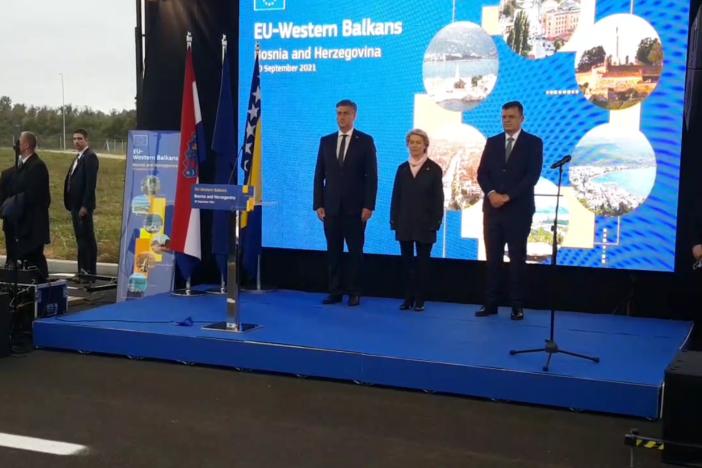 Von der Leyen, Plenković i Tegeltija otvorili most Svilaj