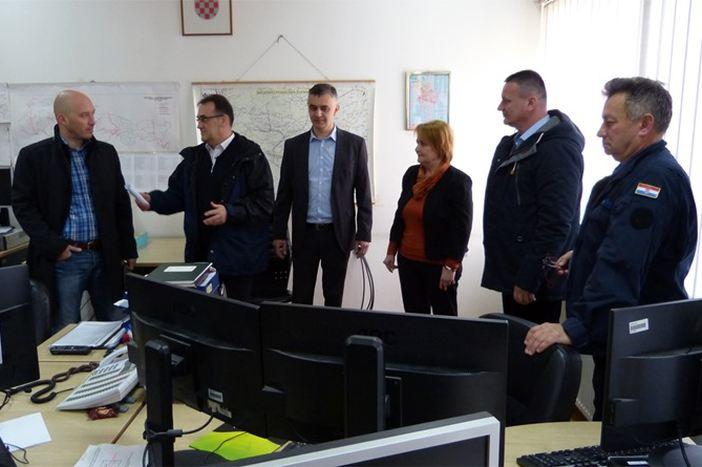 Županijsko izaslanstvo posjetilo neke od žurnih službi u sastavu Stožera civilne zaštite