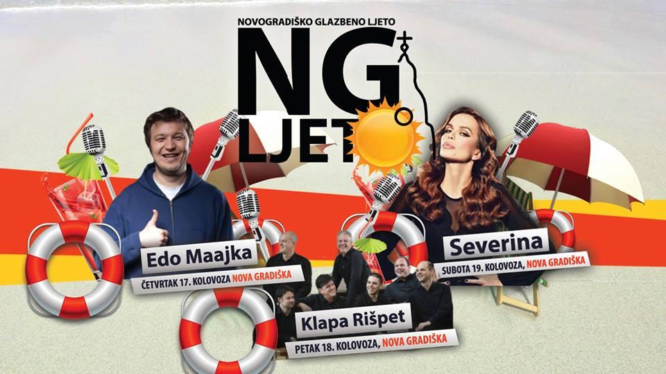 Novogradiško glazbeno ljeto uz Edu Majku, Severinu i Klapu Rišpet