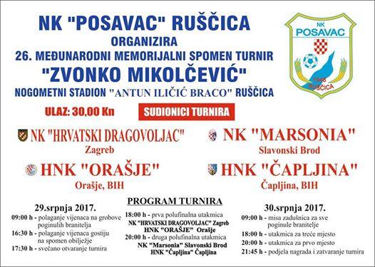 """26. Memorijalni turnir """"Zvonko Mikolčević"""""""