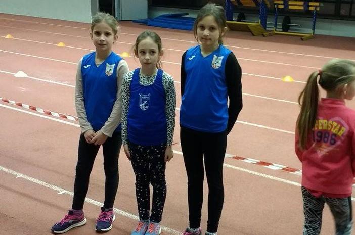 Mlade atletičarke Marsonije uspješne na 3.kolu dvoranske lige