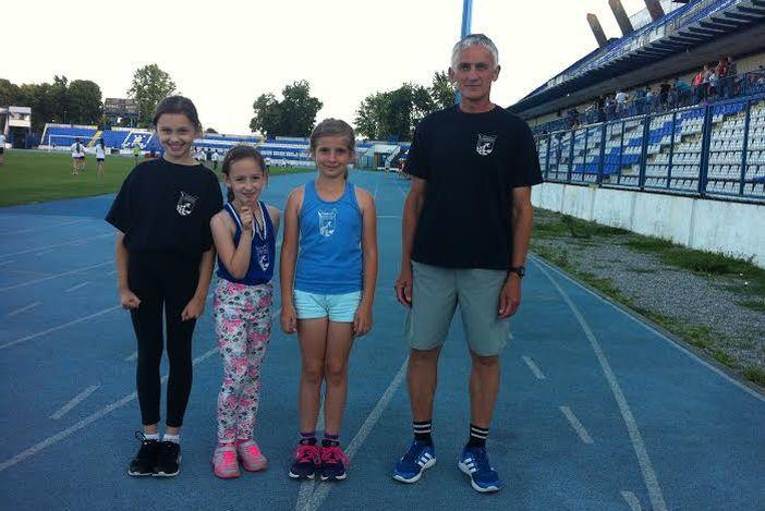 Mlade atletičarke Marsonie na dvoranskoj ligi Slavonije i Baranje