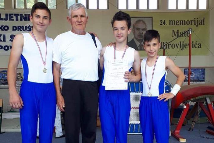 Odlični rezultati gimnastičkog kluba Sokol i u muškoj konkurenciji