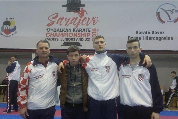 Brođani u karate reprezentaciji Hrvatske na Balkanskom prvenstvu