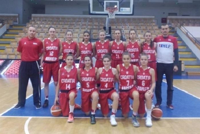 Dvije pobjede ženske košarkaške U15 reprezentacije Hrvatske