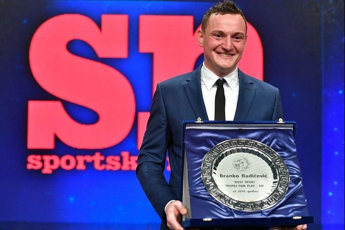 Branku Radičeviću nagrada Sportskih novosti za Fair play