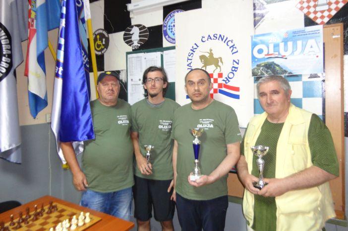 Zoran Ivanović osvojio šahovski turnir povodom 25. obljetnice Oluje