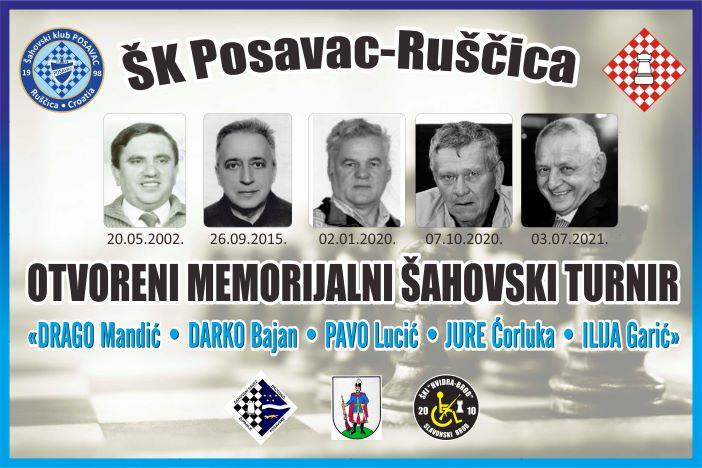 """19. memorijalni šahovski turnir """"Drago Mandić-Darko Bajan-Pavo Lucić i na spomen Jure Ćorluke i Ilije Garića """""""