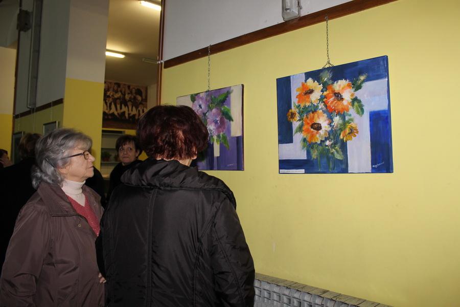 """Otvorena izložba slika Književno - likovnog društva """"Berislavić"""" i Likovne radionice """"Brod"""""""