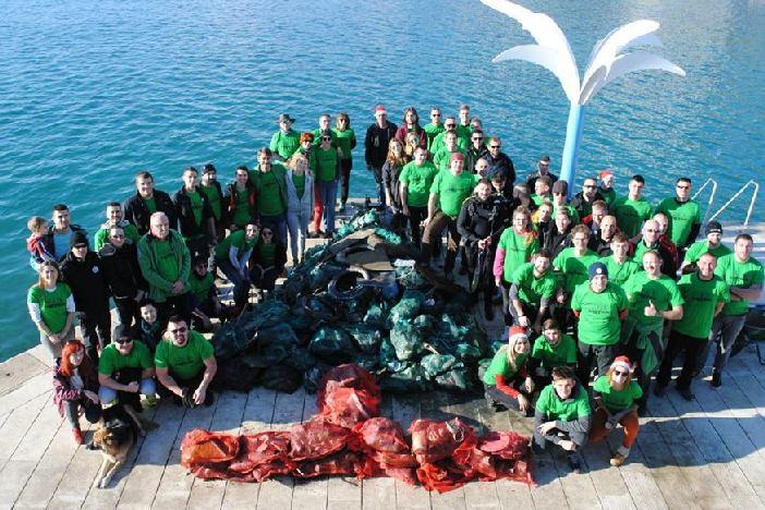 KPA Marsonia sudjelovao u ekološkoj akciji čišćenja podmorja u Splitu