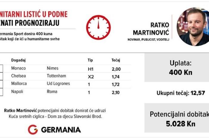 Ratko Martinović u humanitarnoj akciji Germania sporta pogodio listić i pomogao potrebite